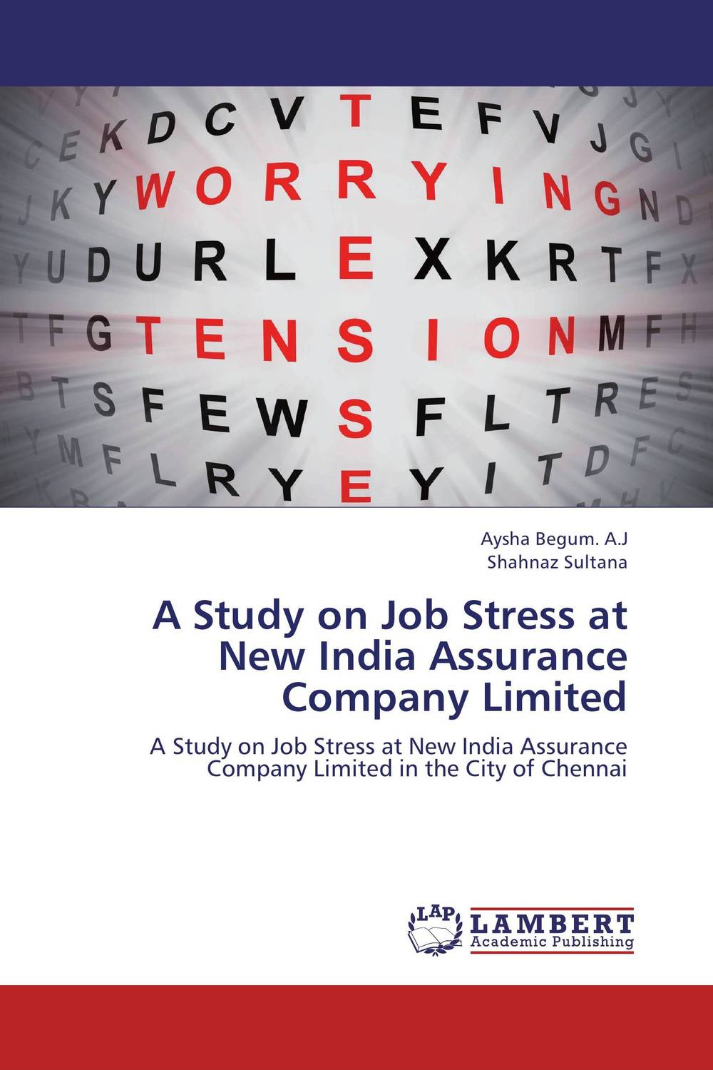 A Study on Job Stress at New India Assurance Company Limited sadiq sagheer job stress role conflict work life balance impacts on sales personnel