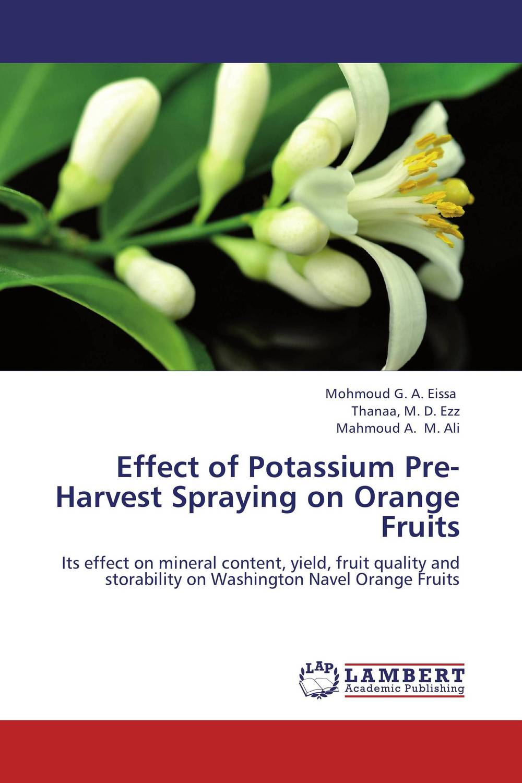 Effect of Potassium Pre-Harvest Spraying on Orange Fruits abm sharif hossain and fusao mizutani dwarfing peach trees grafted on vigorous rootstocks