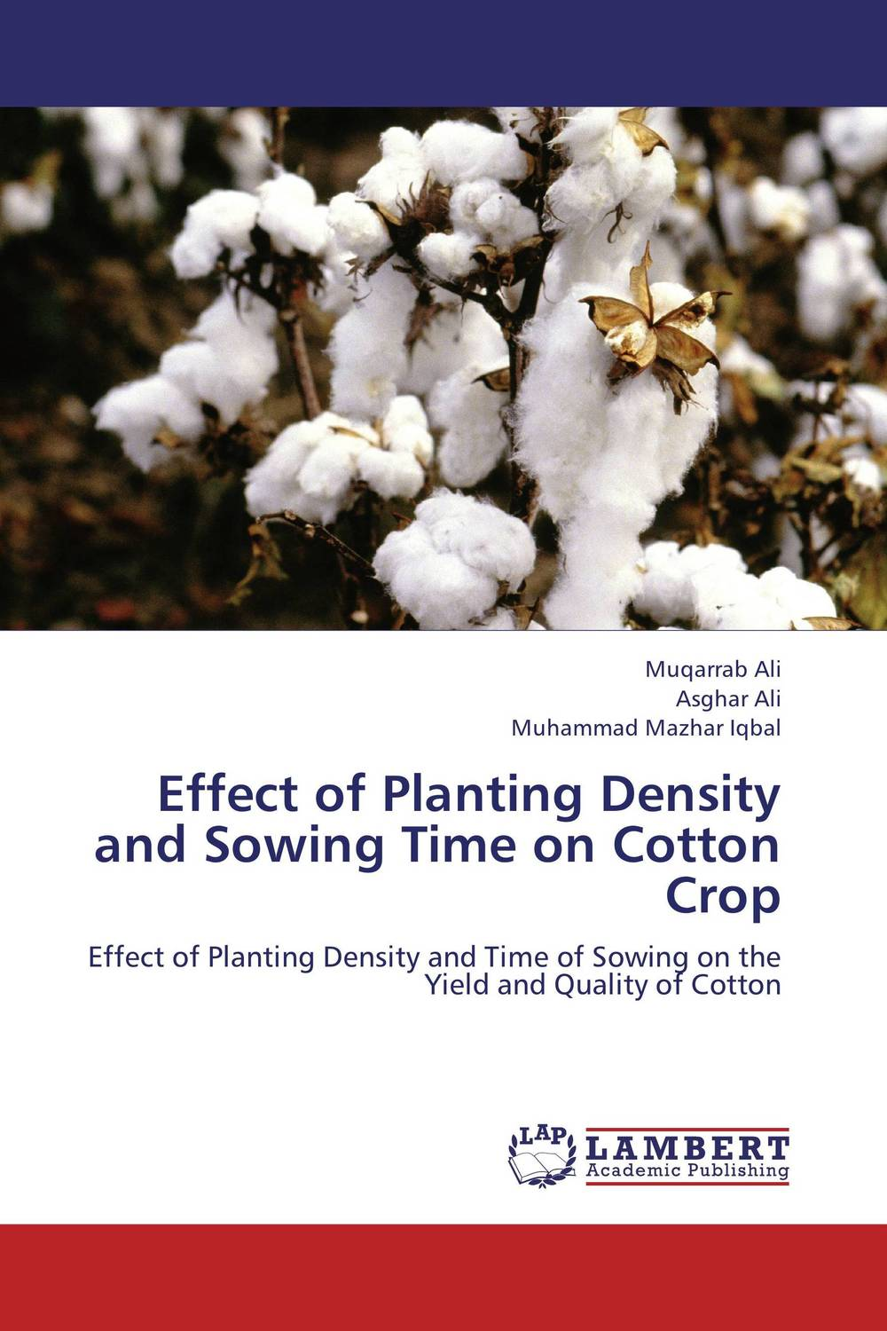 Effect of Planting Density and Sowing Time on  Cotton Crop vishal polara and pooja bhatt effect of node density and transmission range on zrp