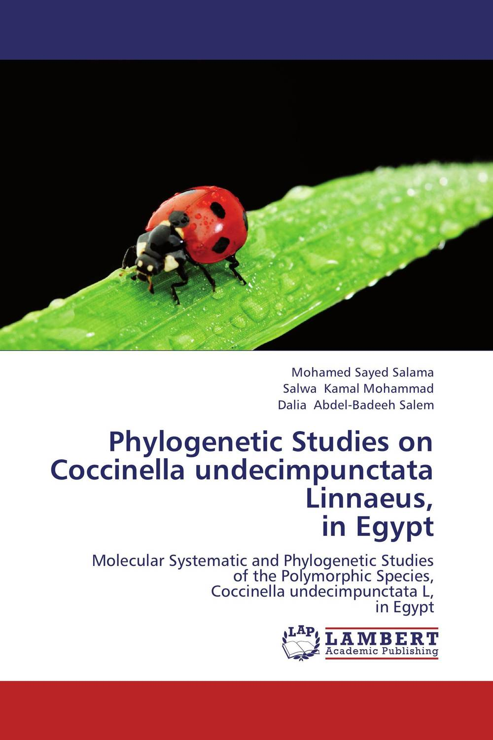 Phylogenetic Studies on Coccinella undecimpunctata Linnaeus, in Egypt kenya vol 3 aberrations
