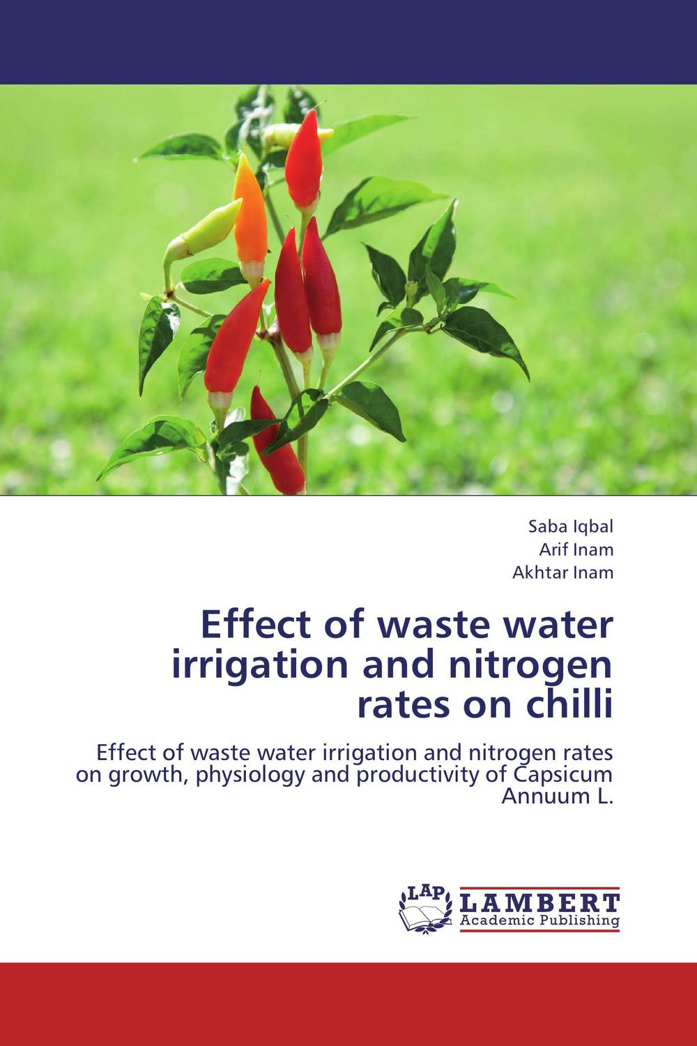 Effect of waste water irrigation and nitrogen rates on chilli bride of the water god v 3