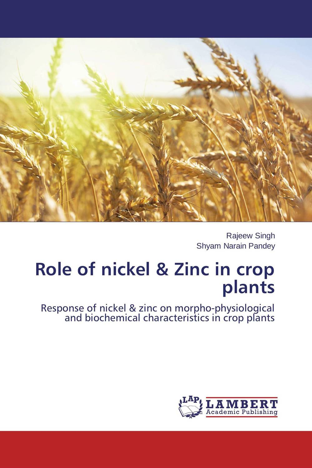 Role of nickel & Zinc in crop plants the role of evaluation as a mechanism for advancing principal practice