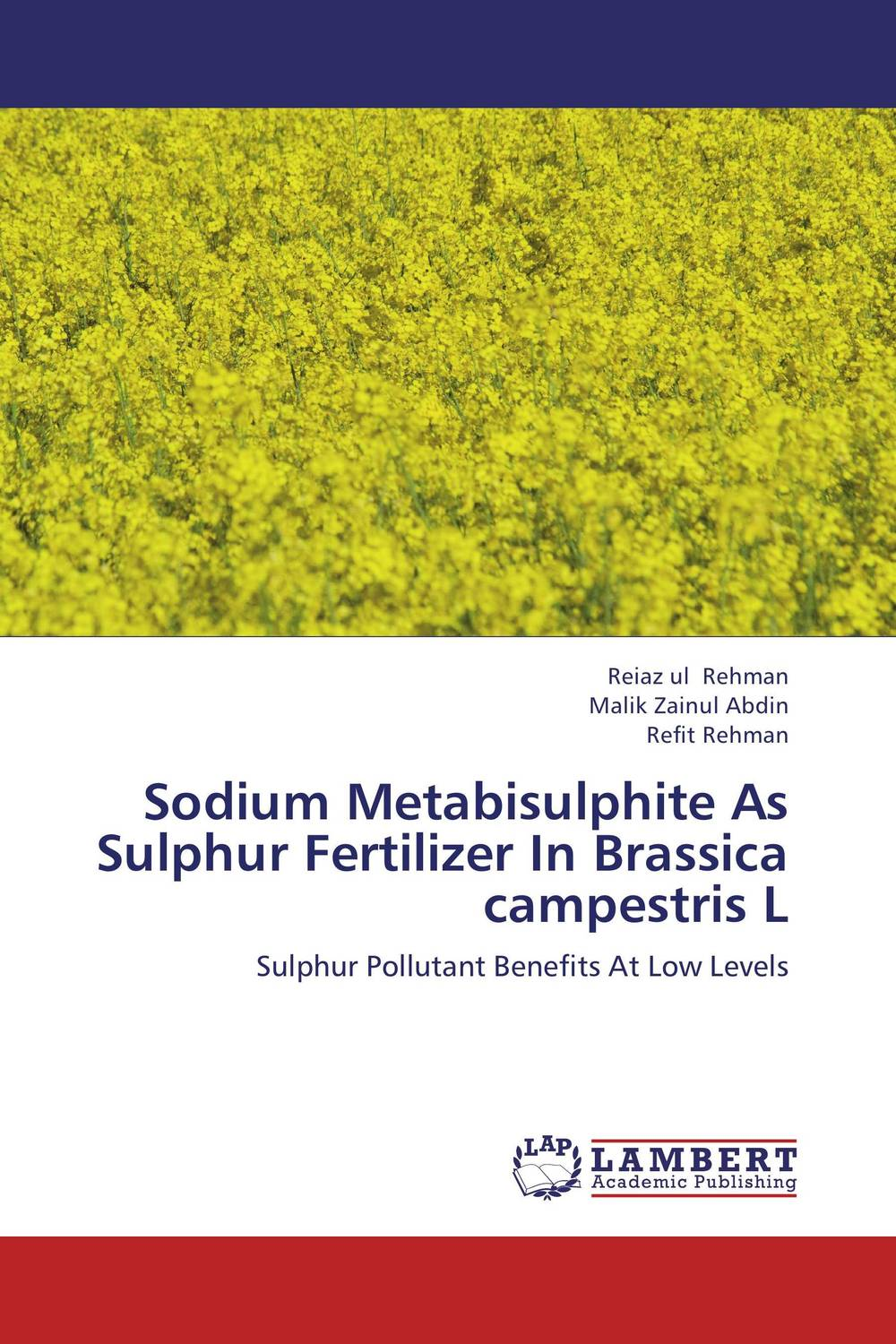 Sodium Metabisulphite As Sulphur Fertilizer In Brassica campestris L nify benny and c h sujatha enrichment of sulphur compounds in the cochin estuarine system