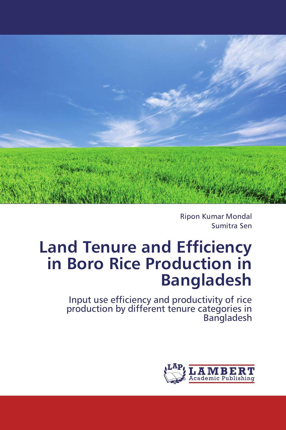 Land Tenure and Efficiency in Boro Rice Production in Bangladesh land tenure and efficiency in boro rice production in bangladesh