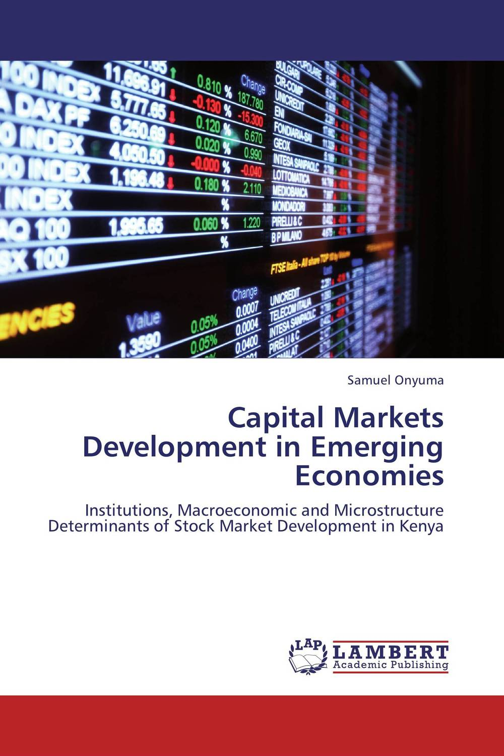 Capital Markets Development in Emerging Economies emerging issues on sustainable urban development
