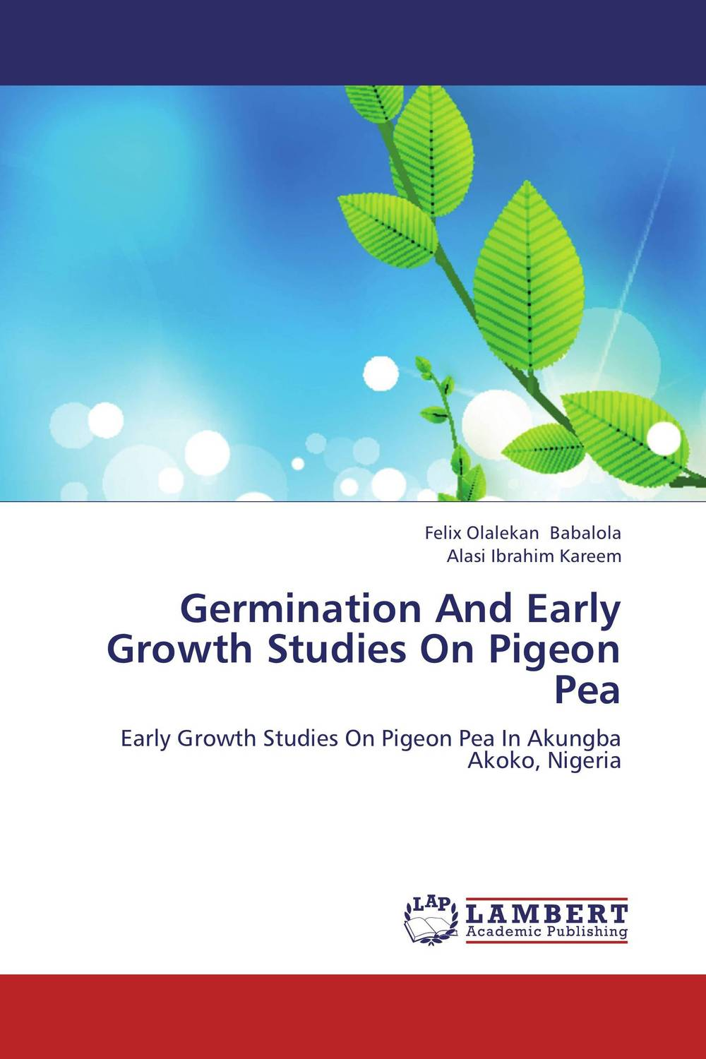 Germination And Early Growth Studies On Pigeon Pea купить