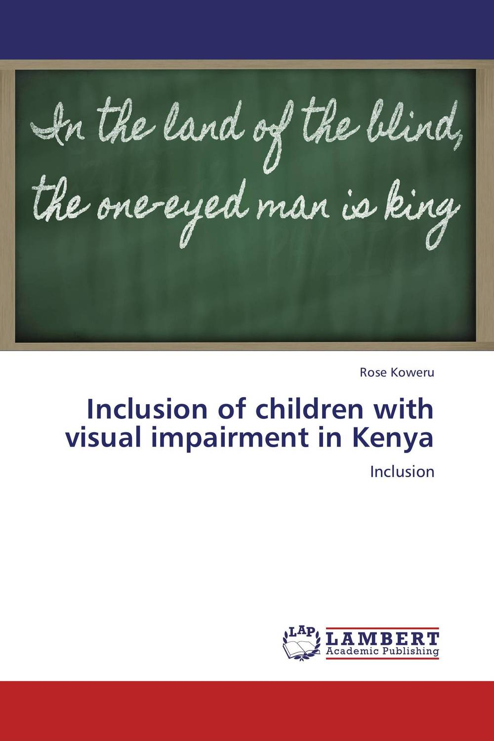 цена на Inclusion of children with visual impairment in Kenya