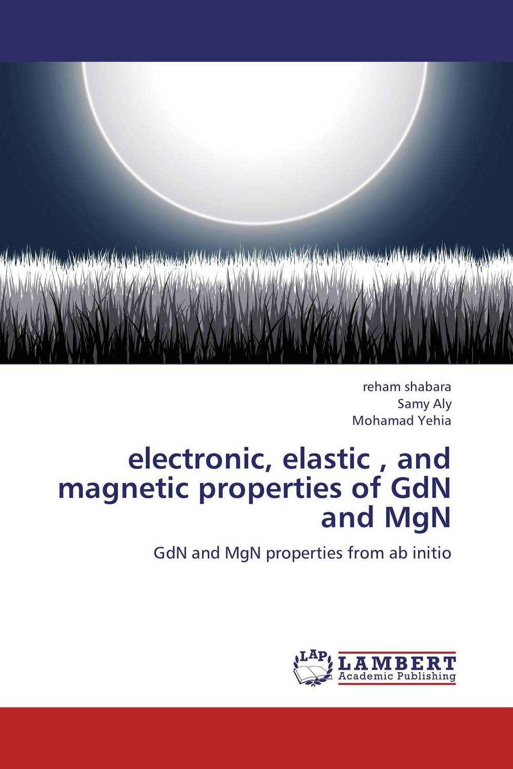 electronic, elastic , and magnetic properties of GdN and MgN optical and electronic properties of diamondoids