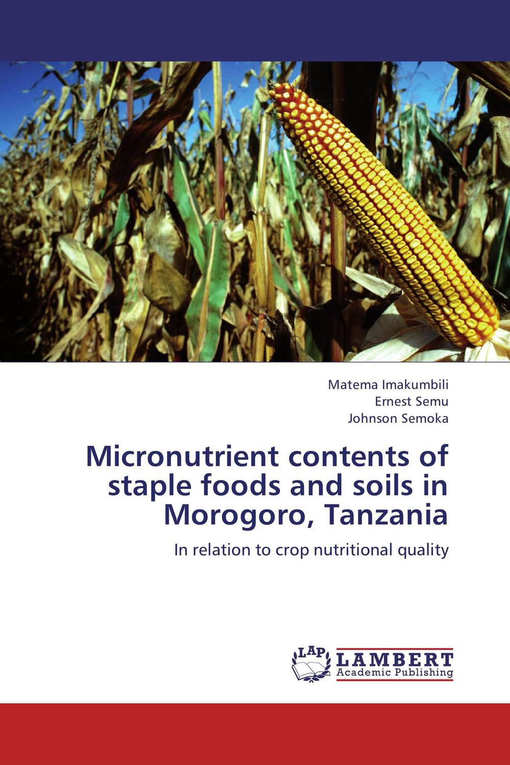 Micronutrient contents of staple foods and soils in Morogoro, Tanzania phosphorus sorption chractersitics of some soils of southern ethiopia