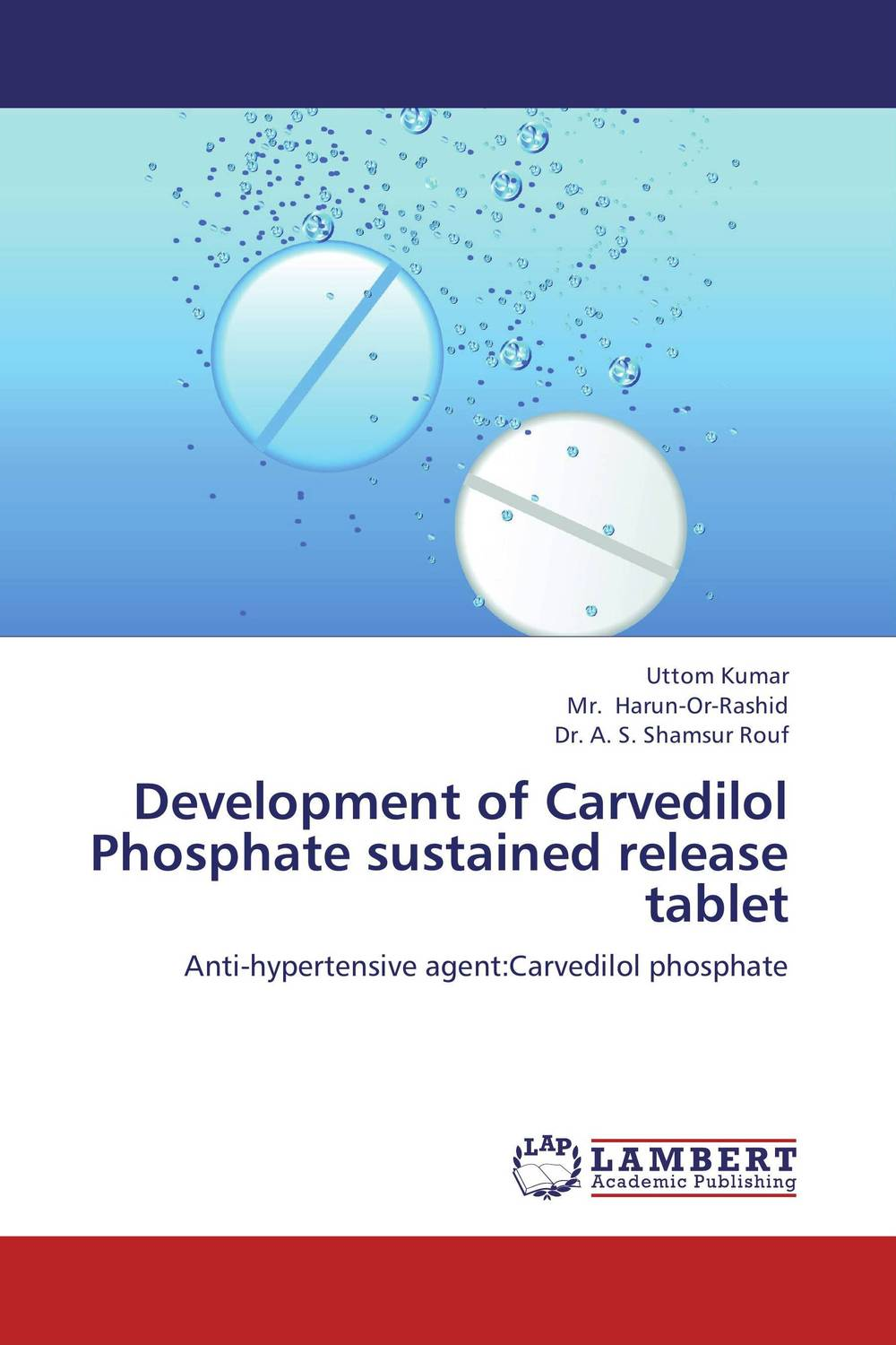 Development of Carvedilol Phosphate sustained release tablet design and studies of some new controlled release formulations