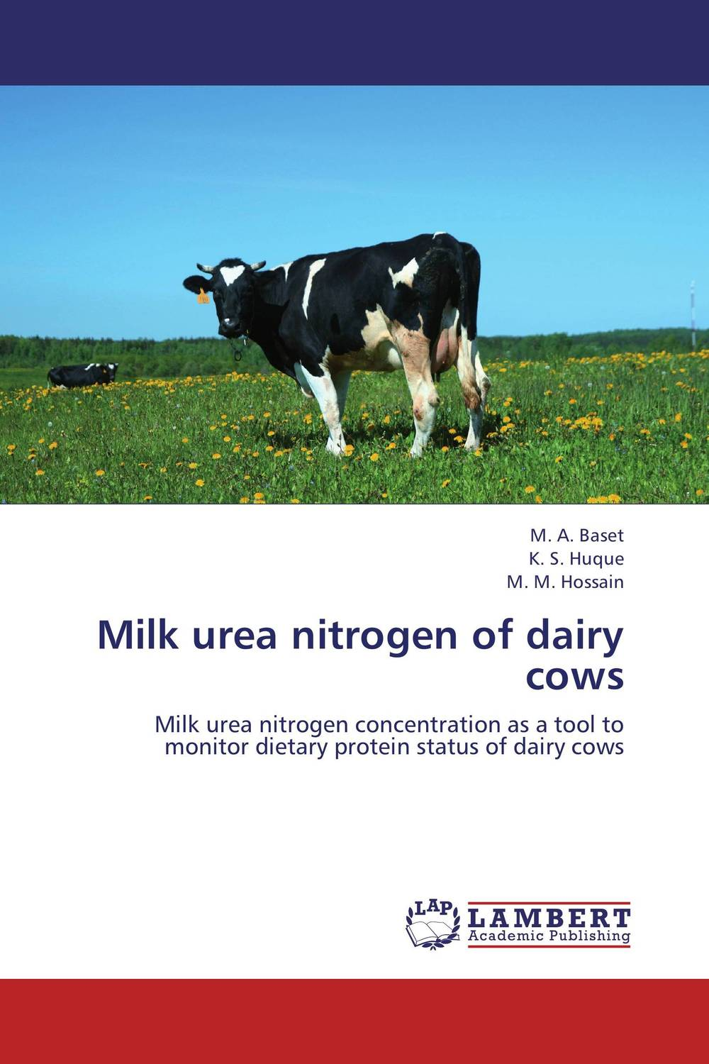 Milk urea nitrogen of dairy cows claw disorders in dairy cows under smallholder zero grazing units