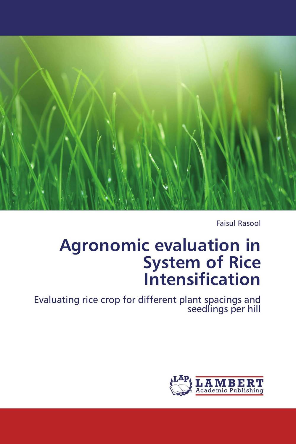 Agronomic evaluation in System of Rice Intensification the role of evaluation as a mechanism for advancing principal practice