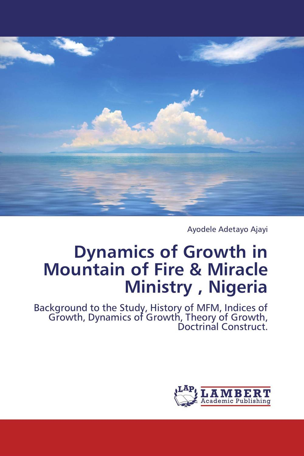 Dynamics of Growth in Mountain of Fire & Miracle Ministry , Nigeria population dynamics of ticks on cattle in asia and africa