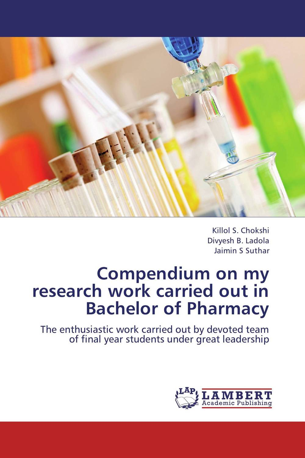 Compendium on my research work carried out in Bachelor of Pharmacy evaluation of good pharmacy practice