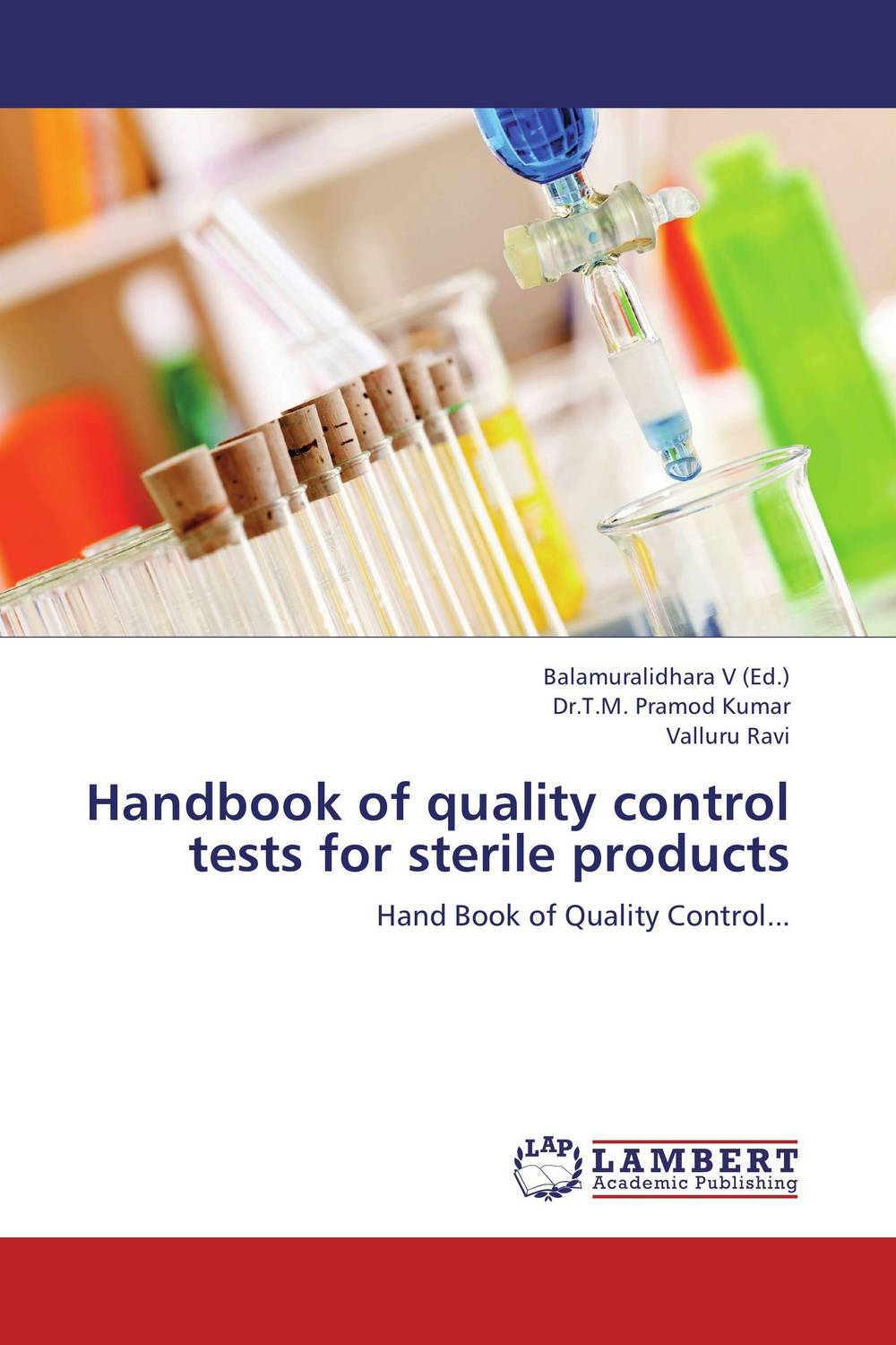 Handbook of quality control tests for sterile products air emission control handbook
