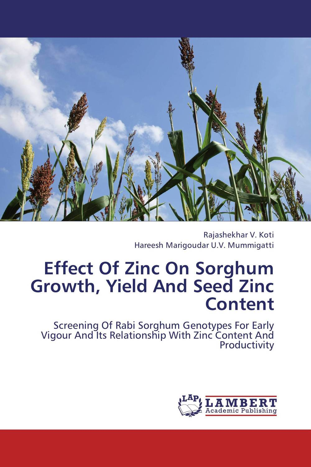 Effect Of Zinc On Sorghum Growth, Yield And Seed Zinc Content cleto namoobe and rajender kumar nanwal growth yield and quality of sorghum as influenced by nitrogen levels