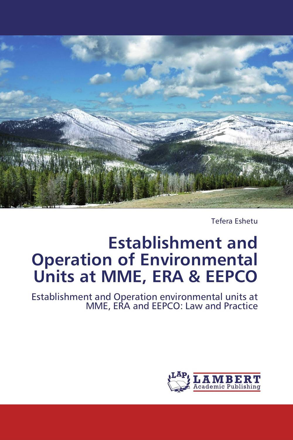 Establishment and Operation of Environmental Units at MME, ERA & EEPCO the auxiliary units