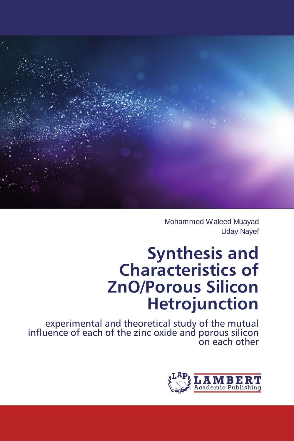 Synthesis and Characteristics of ZnO/Porous Silicon Hetrojunction zno nanowires