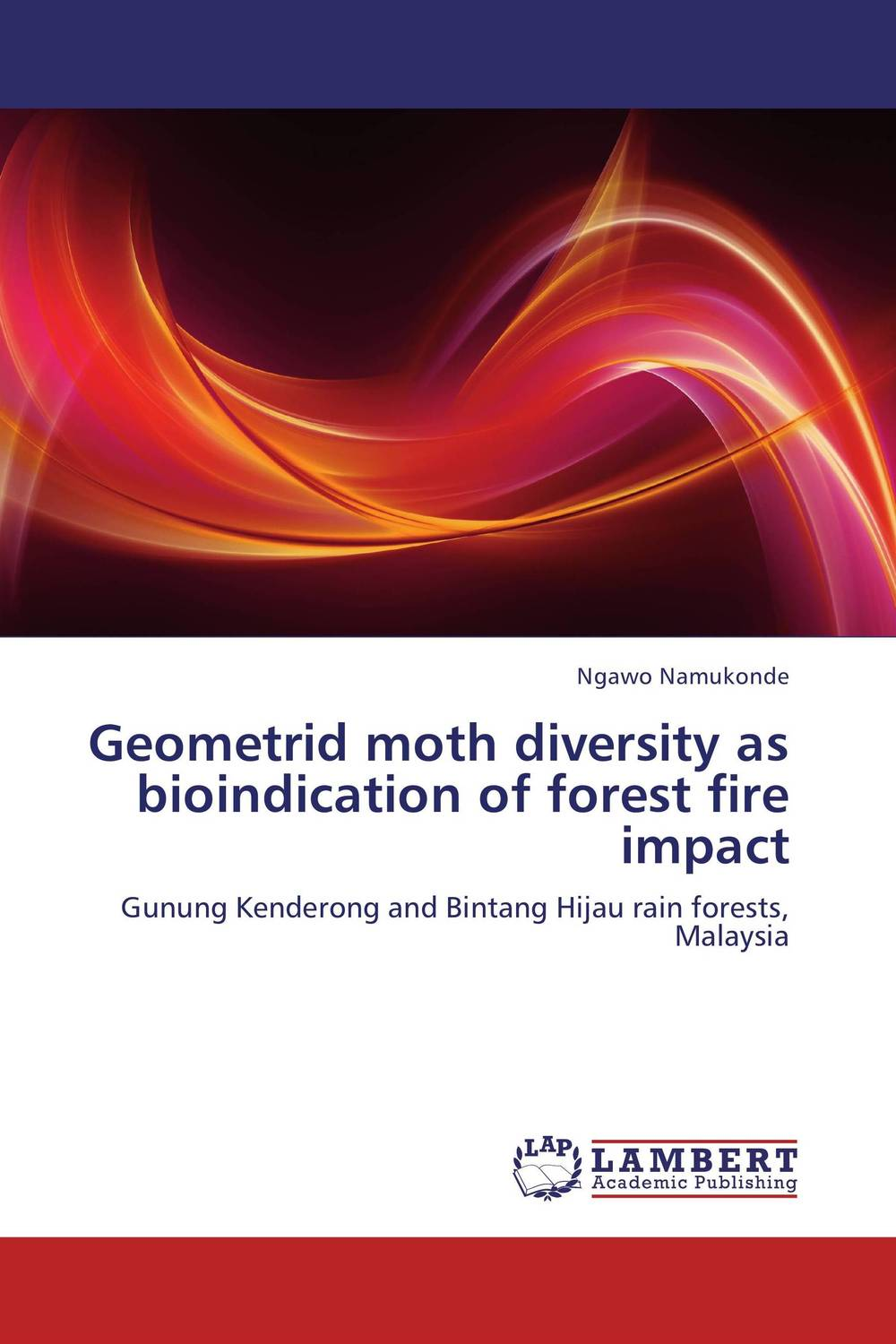 Geometrid moth diversity as bioindication of forest fire impact fire in the rain