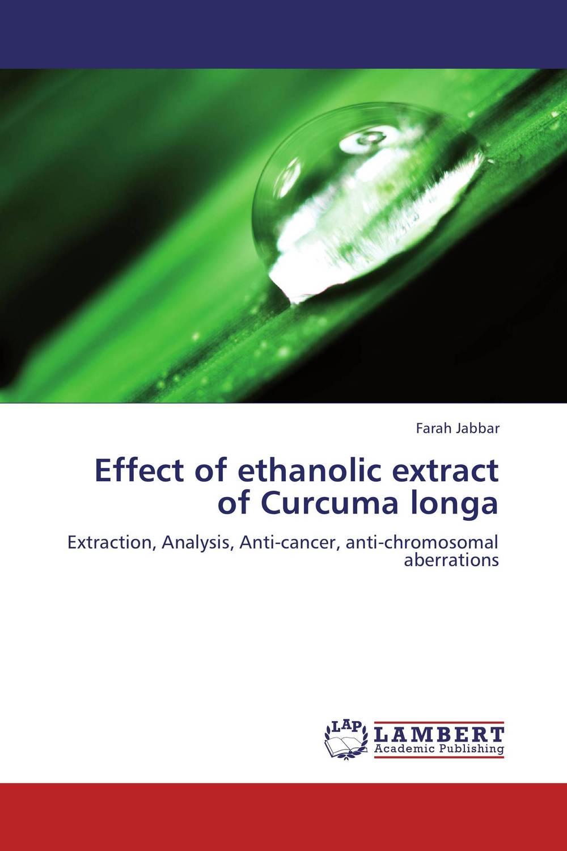 Effect of ethanolic extract of Curcuma longa pharmaceuticals