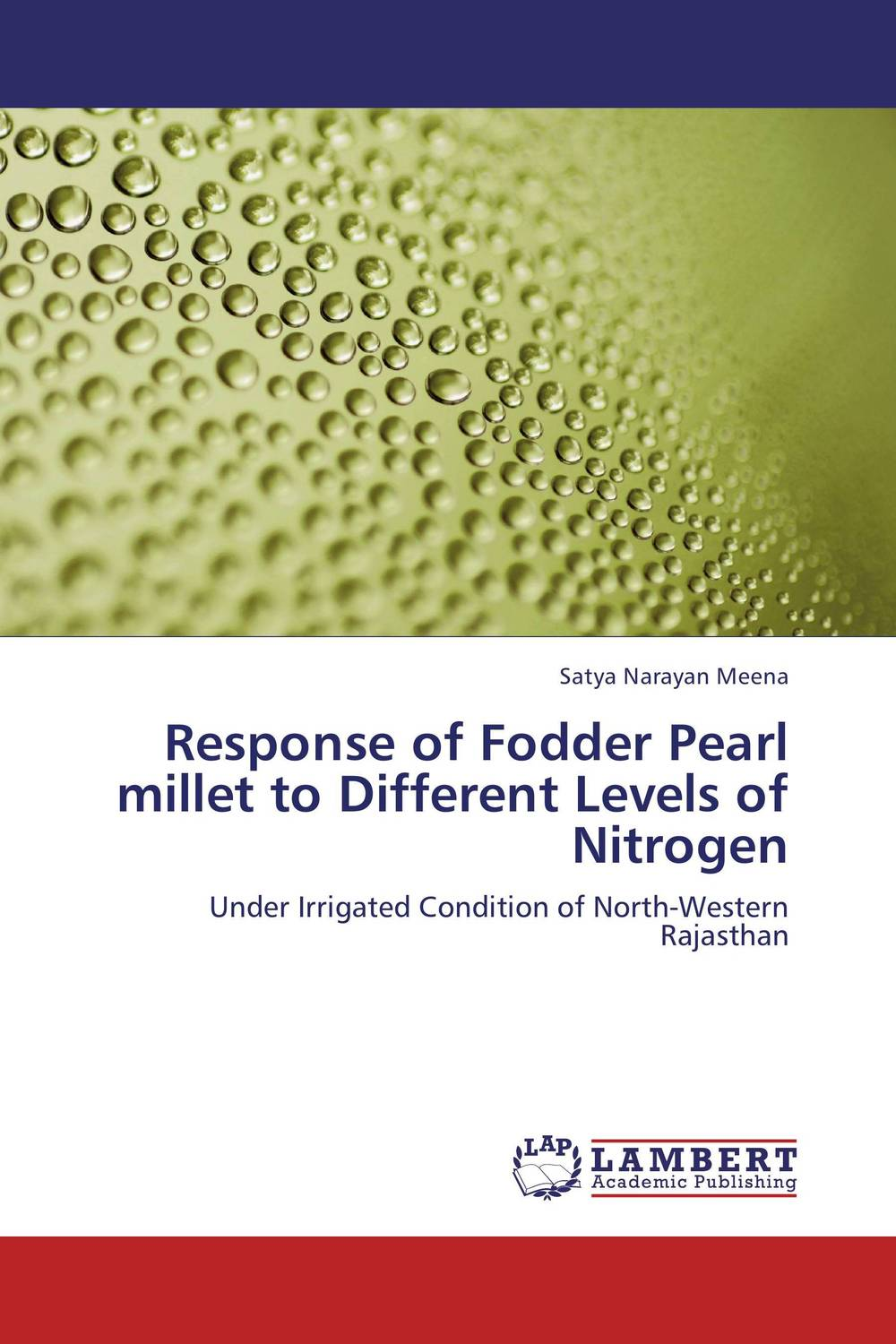 Response of Fodder Pearl millet to Different Levels of Nitrogen subodh kumar and rakesh kumar response of organic nutrition and nitrogen on mustard brassica juncea
