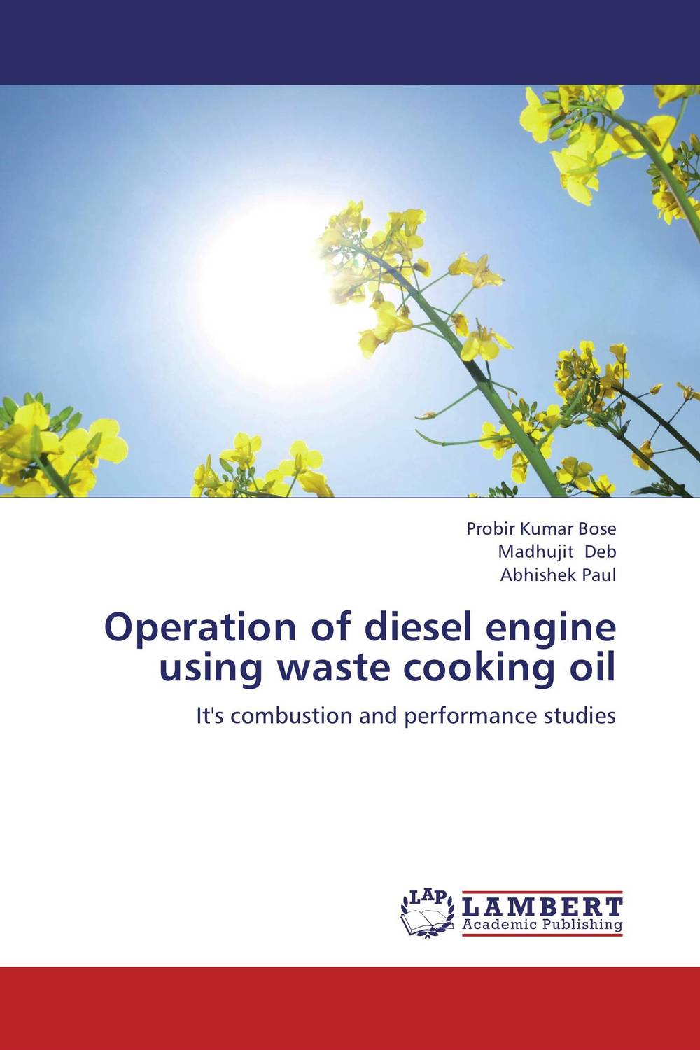 Operation of diesel engine using  waste cooking oil a study on vcr diesel engine with preheated cottonseed methyl ester