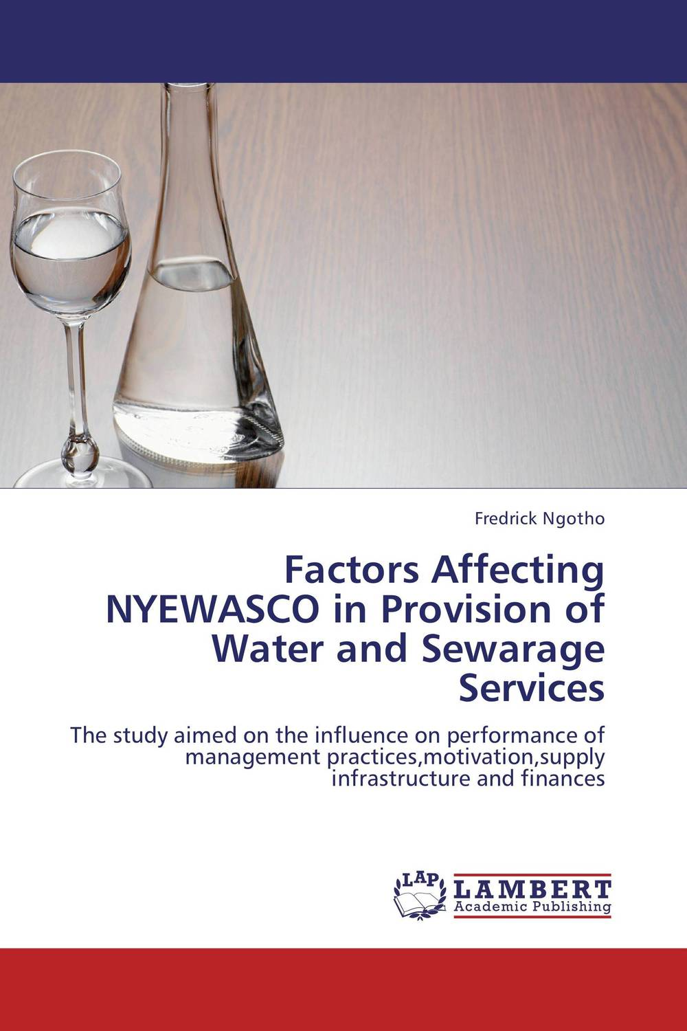 Factors Affecting NYEWASCO in Provision of Water and Sewarage Services