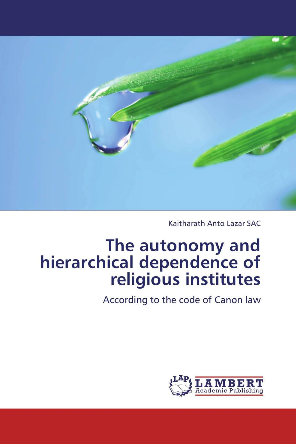 The autonomy and hierarchical dependence of religious institutes autonomy theory and implementation
