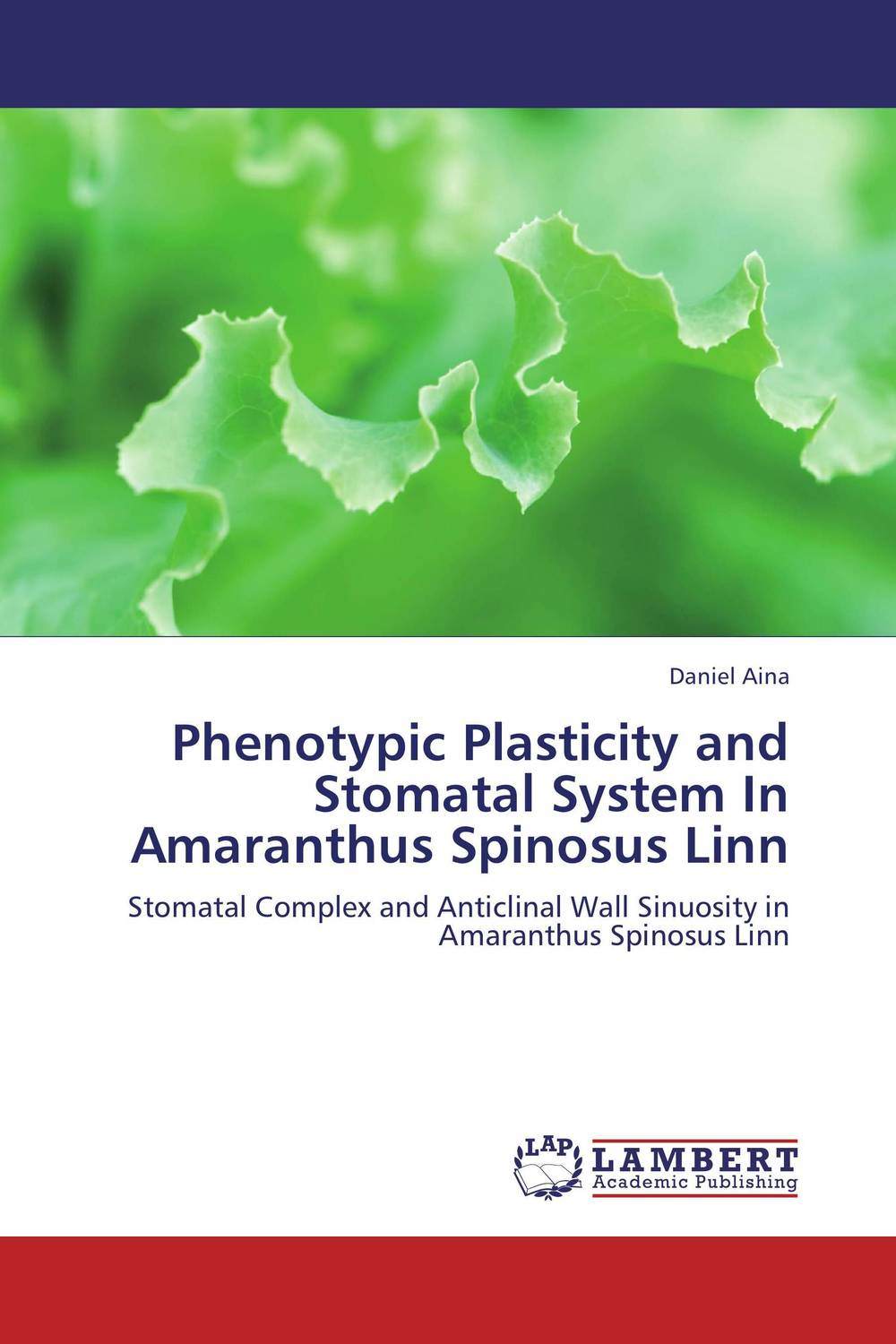 Phenotypic Plasticity and Stomatal System In Amaranthus Spinosus Linn plant taxonomy and systematics