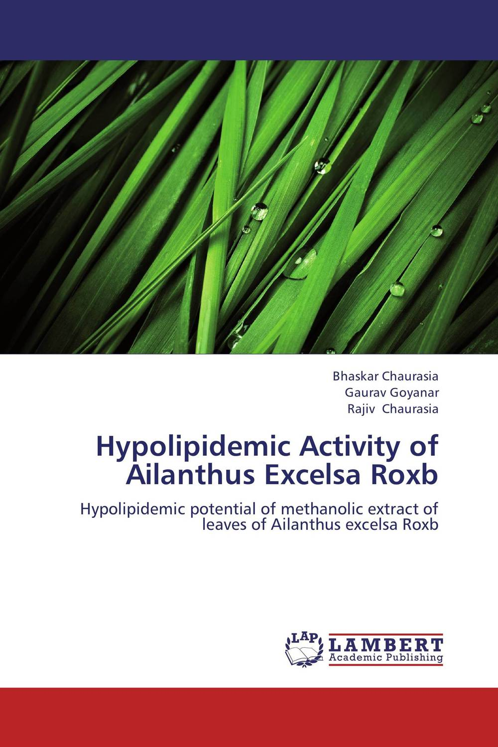 Hypolipidemic Activity of Ailanthus Excelsa Roxb introduction and review of antitubercular agents