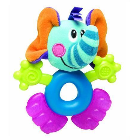 NUBY Прорезыватель с гелем, животные, цвет: слон. ID473