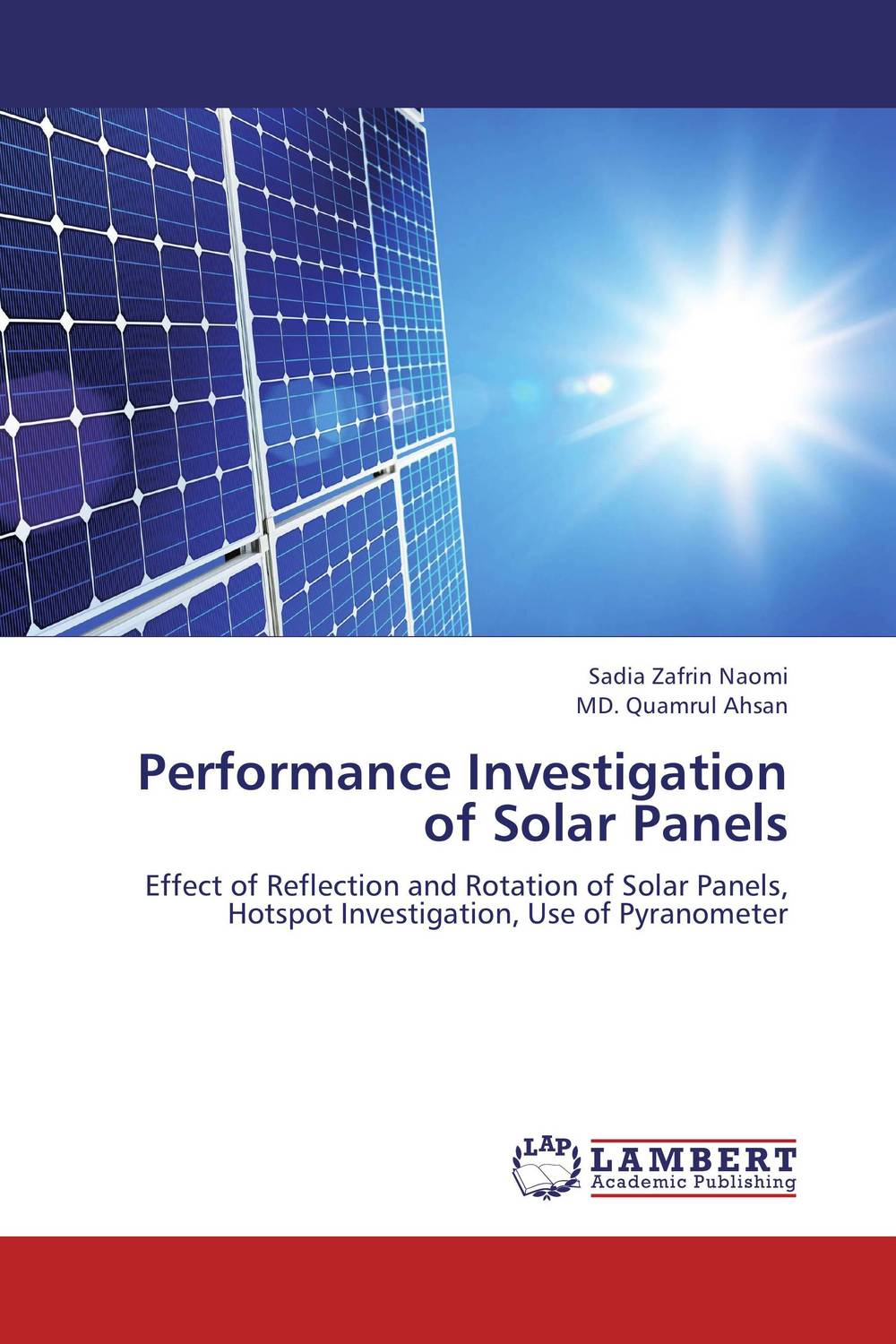Performance Investigation of Solar Panels energy efficient system for solar panel