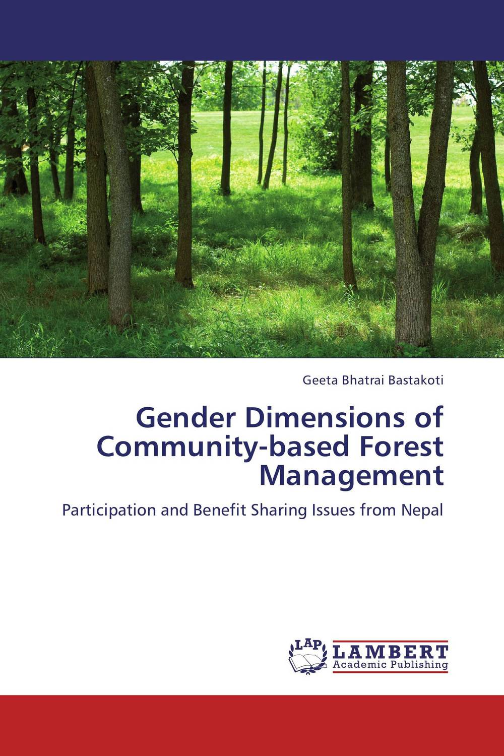 Gender Dimensions of Community-based Forest Management management and users participation in low cost flat