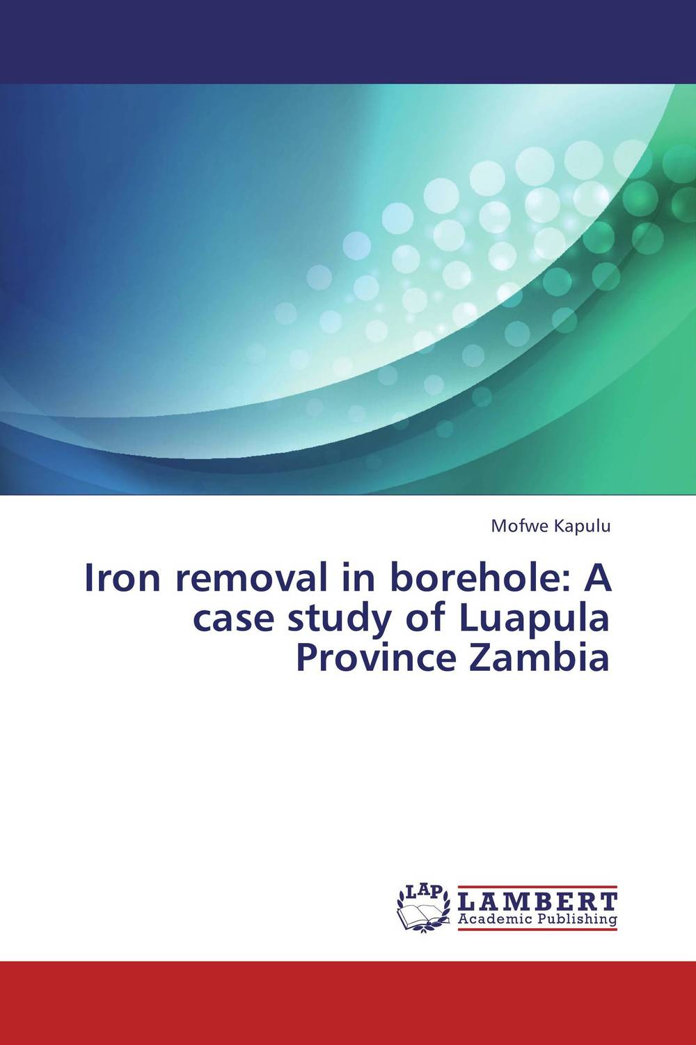 Iron removal in borehole: A case study of Luapula Province Zambia analysis fate and removal of pharmaceuticals in the water cycle 50