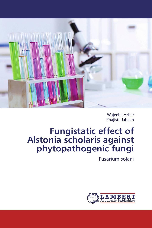 Fungistatic effect of Alstonia scholaris against phytopathogenic fungi riddhi patel and yogesh jasrai antifungal essential oils against plant fungal pathogens