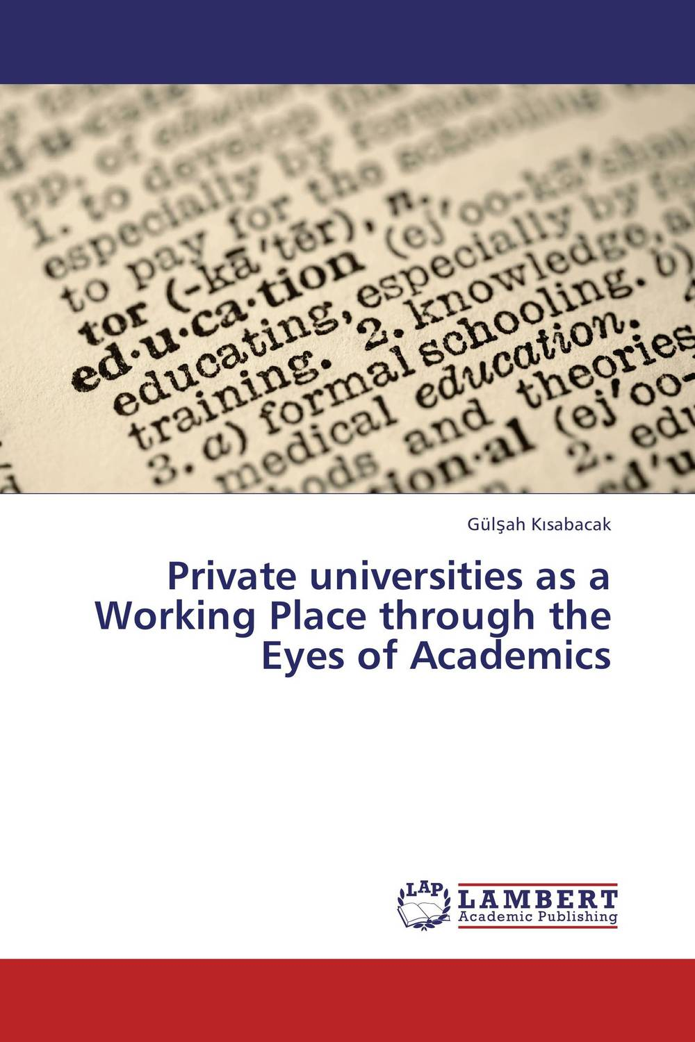 Private universities as a Working Place through the Eyes of Academics private l a