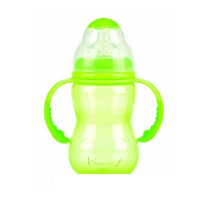 NUBY Бутылочка с антиколиковой системой, 300 мл, цвет: зеленый. ID1095