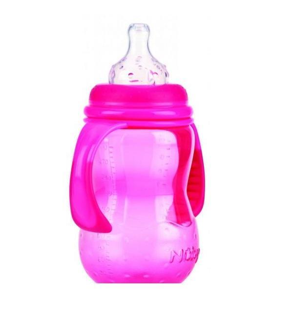 NUBY Бутылочка с антиколиковой системой, 300 мл, цвет: розовый. ID1095 hasbro transformers b0067 трансформеры роботы под прикрытием гиперчэндж в ассортименте