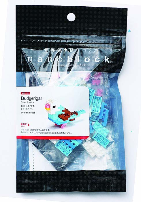 NanoBlock Мини-конструктор Волнистый попугайчик nanoblock паровоз