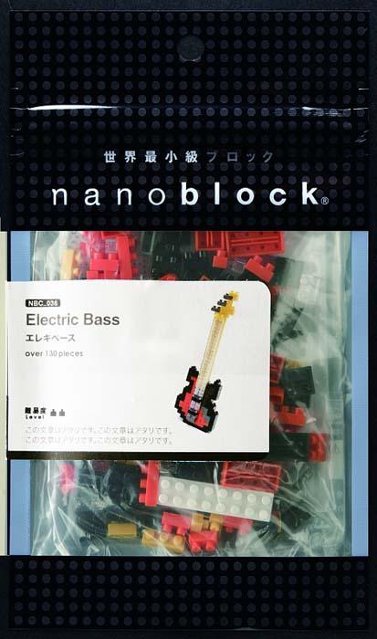 NanoBlock Мини-конструктор Басс-гитара мини конструктор nanoblock nbc 096 акустическая гитара