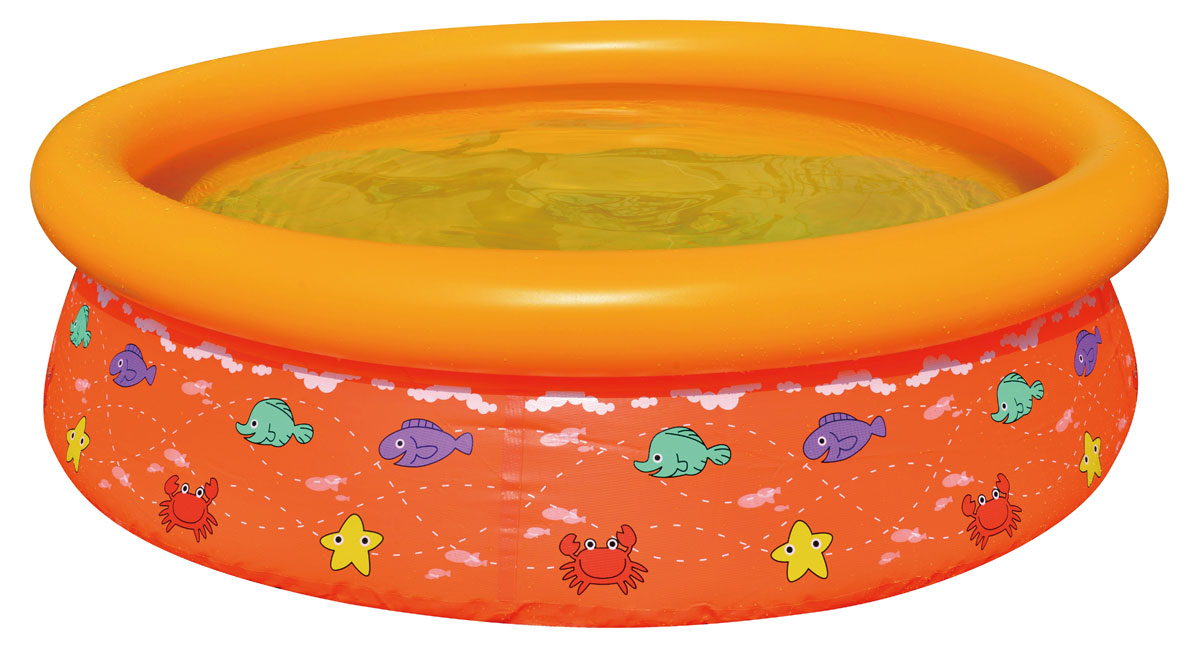 Бассейн надувной Jilong Kids Pool, цвет: оранжевый, 150 см х 38 см бассейн каркасный jilong kids frame pool jl017256npfv01