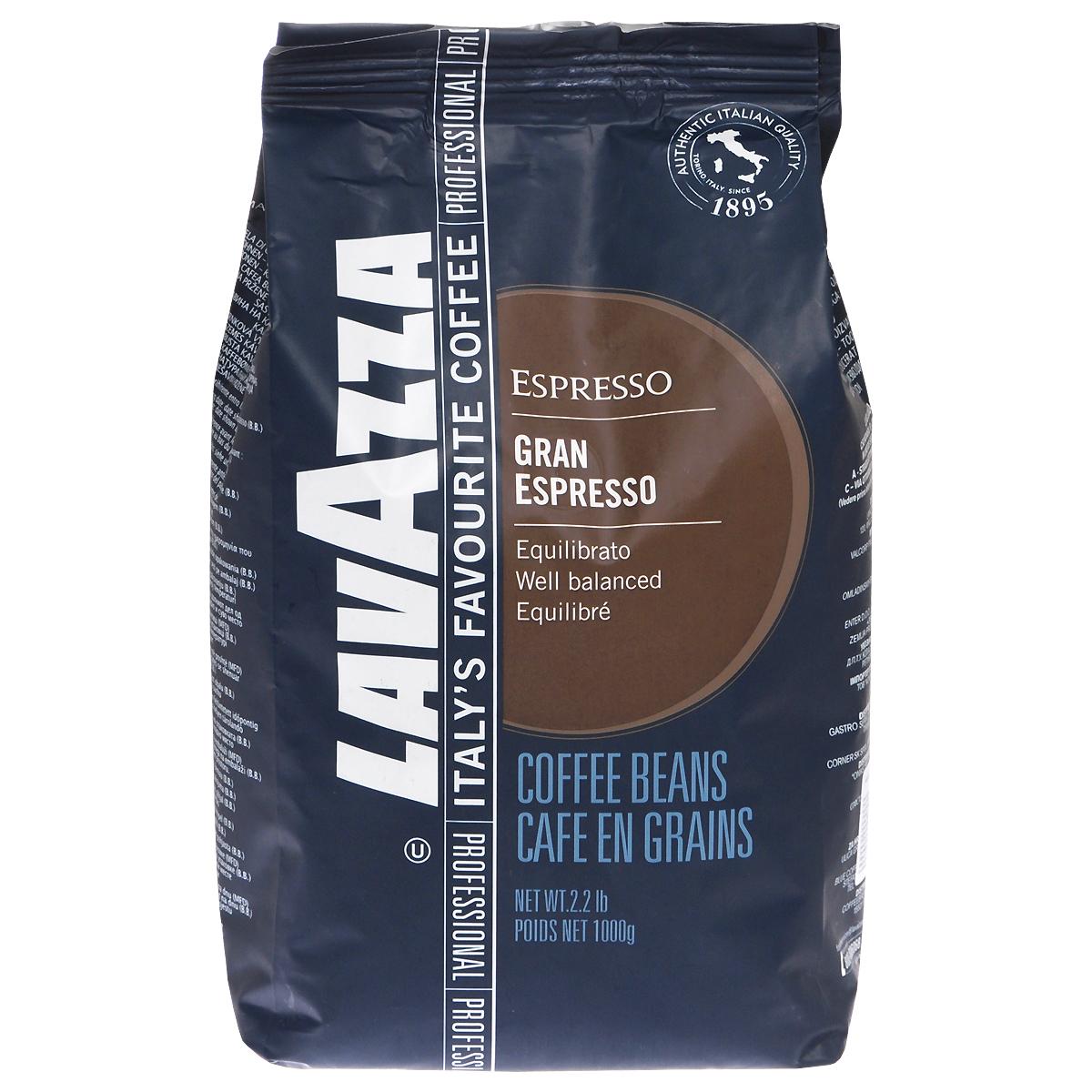 Lavazza Gran Espresso кофе в зернах, 1 кг кофе в зернах lavazza 3590 rossa 1кг