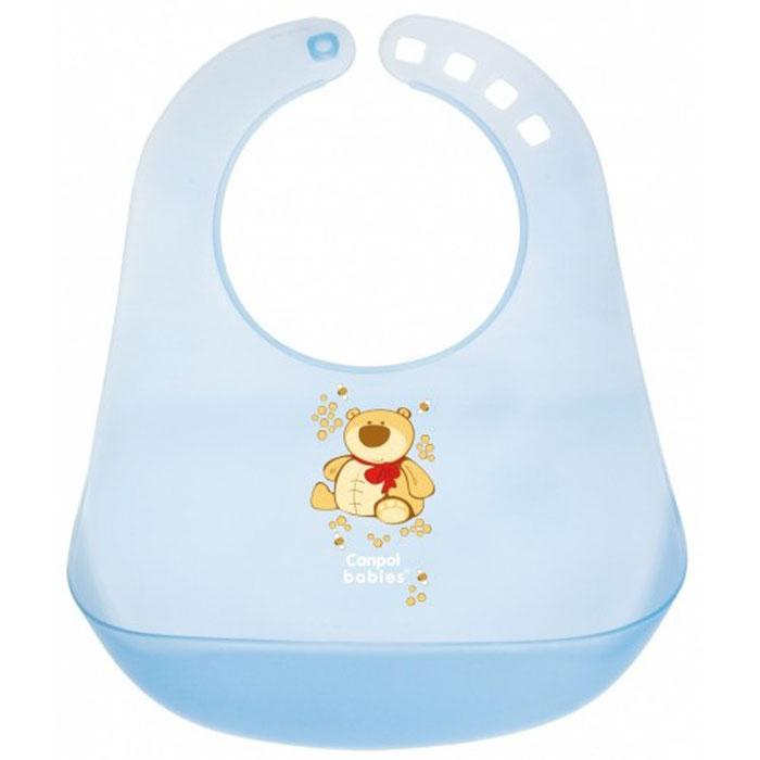 Canpol Babies Слюнявчик пластиковый цвет голубой смотреть одежду для детей
