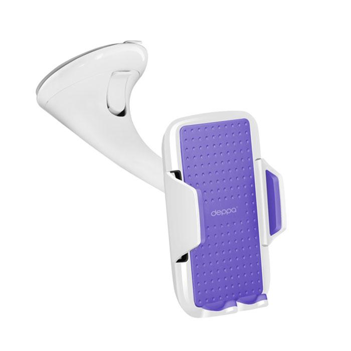 Deppa Crab Vogue автомобильный держатель для смартфонов 3.5-5.9, White55128Автомобильный держатель Deppa Crab Vogue для крепления вашего устройства на лобовое стекло и приборную панель автомобиля. Имеется возможность поворота устройства на 360°.