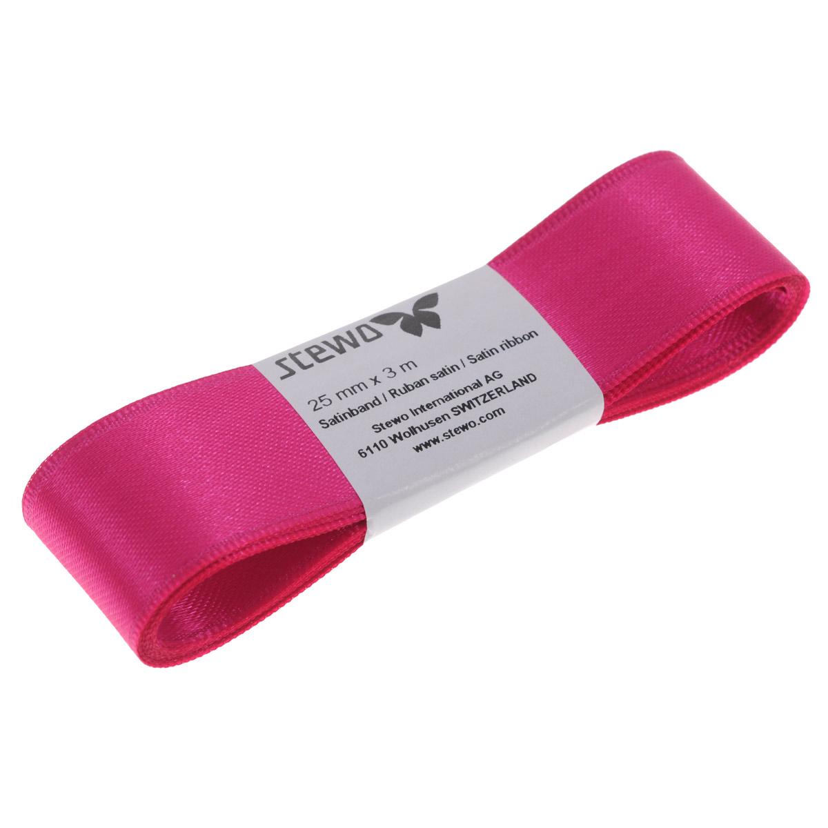Лента атласная Brunnen, цвет: темно-розовый, ширина 2,5 см, длина 3 м834127-28\STWЛента Brunnen изготовлена из атласа. Область применения атласной ленты весьма широка. Лента предназначена для оформления цветочных букетов, подарочных коробок, пакетов. Кроме того, она с успехом применяется для художественного оформления витрин, праздничного оформления помещений, изготовления искусственных цветов. Ее также можно использовать для творчества в различных техниках, таких как скрапбукинг, оформление аппликаций, для украшения фотоальбомов, подарков, конвертов, фоторамок, открыток и т.д.Ширина ленты: 2,5 см.Длина ленты: 3 м.