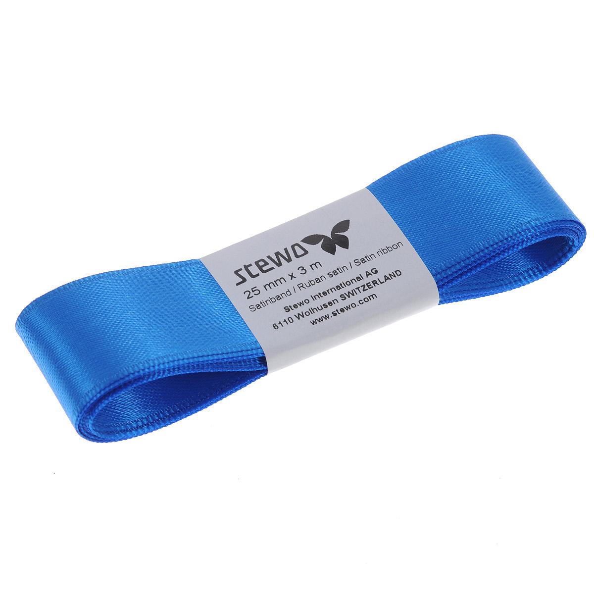 Лента атласная Brunnen, цвет: синий, ширина 2,5 см, длина 3 м834127-42\STWЛента Brunnen изготовлена из атласа. Область применения атласной ленты весьма широка. Лента предназначена для оформления цветочных букетов, подарочных коробок, пакетов. Кроме того, она с успехом применяется для художественного оформления витрин, праздничного оформления помещений, изготовления искусственных цветов. Ее также можно использовать для творчества в различных техниках, таких как скрапбукинг, оформление аппликаций, для украшения фотоальбомов, подарков, конвертов, фоторамок, открыток и т.д.Ширина ленты: 2,5 см.Длина ленты: 3 м.