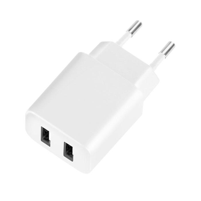 Deppa Ultra Duo 2.1A, White сетевое зарядное устройство