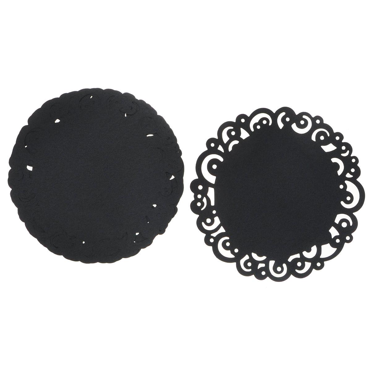 Декоративные салфетки Wilton, цвет: черный, диаметр 30 см, 6 шт