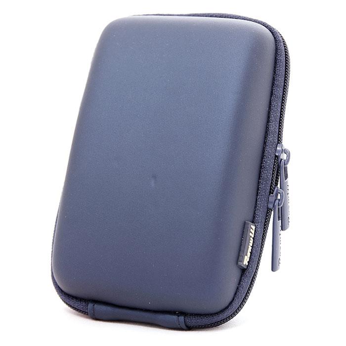 Roxwill C50, Dark Blue чехол для фото- и видеокамерC50 dark blueRoxwill C50 - надежный чехол для компактных фотокамер. Он гарантированно защитит вашу камеру от случайных ударов и царапин, а также от пыли и влаги. Изделие изготовлено из EVA (вспененная резина). Данный материал не подлежит воздействию агрессивных веществ и предохраняет фотоаппарат при падении. Для переноски предусмотрен регулируемый шейный ремешок и возможность