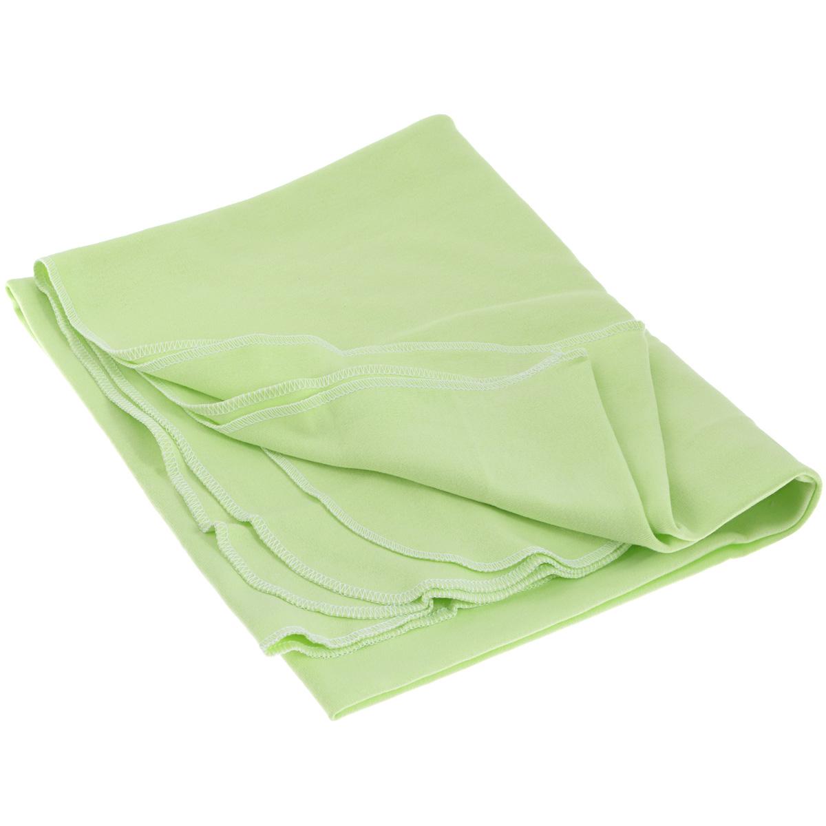 Пеленка, цвет: салатовый пеленка трикотажная трон плюс цвет розовый 120 см х 90 см